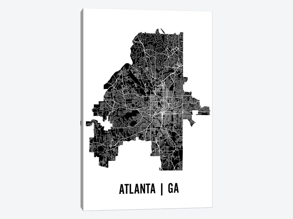 Atlanta Map by Mr. City Printing 1-piece Canvas Art