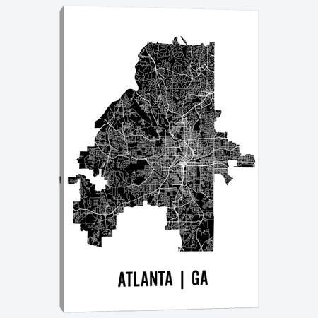 Atlanta Map Canvas Print #MCP2} by Mr. City Printing Canvas Wall Art