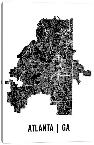 Atlanta Map Canvas Art Print