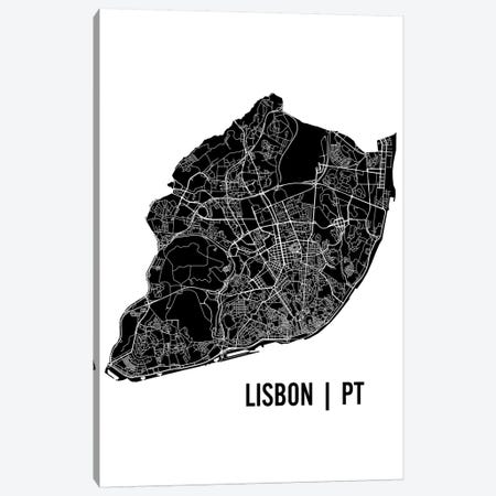 Lisbon Map Canvas Print #MCP30} by Mr. City Printing Canvas Print