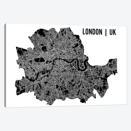 London Map Canvas Print #MCP31} by Mr. City Printing Canvas Art Print