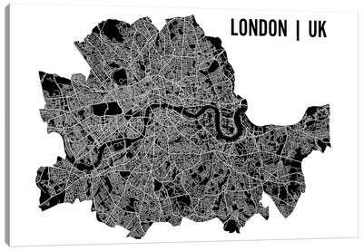 London Map Canvas Art Print