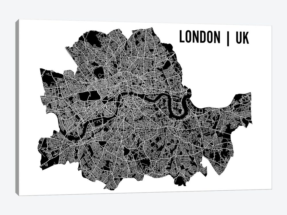 London Map by Mr. City Printing 1-piece Canvas Artwork