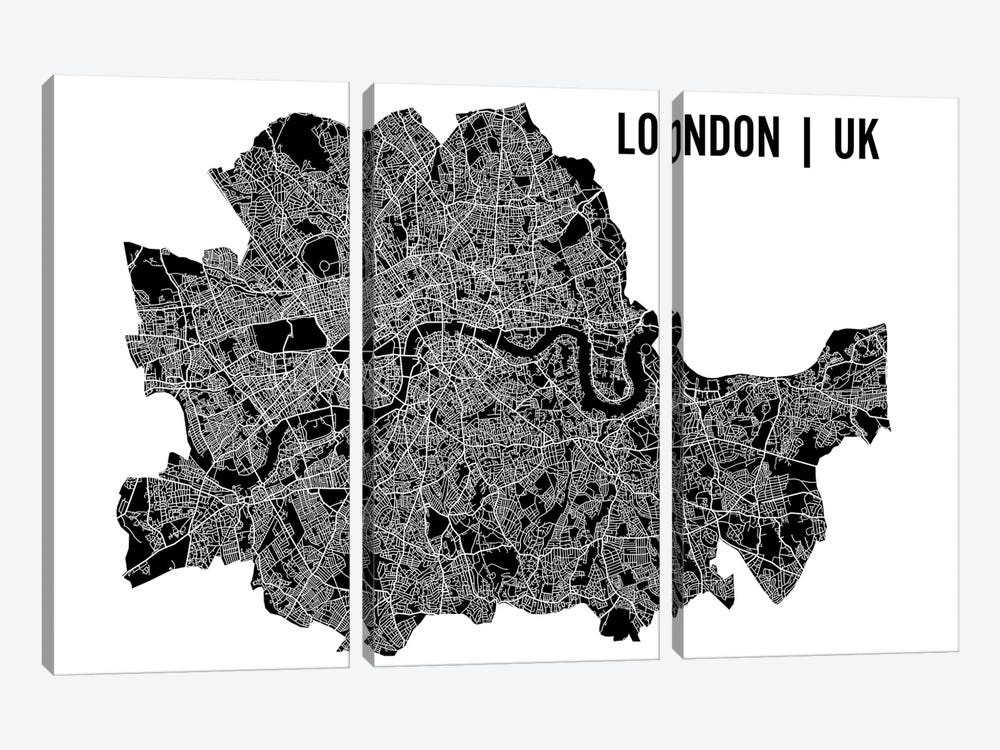 London Map by Mr. City Printing 3-piece Canvas Art