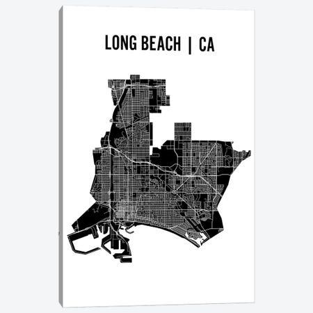 Long Beach Map Canvas Print #MCP32} by Mr. City Printing Canvas Print