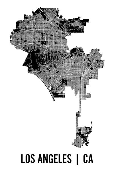 graphic about Printable Map of Los Angeles called Los Angeles Map Canvas Wall Artwork as a result of Mr. Metropolis Printing iCanvas