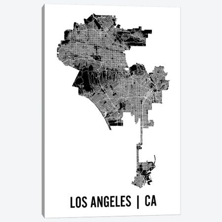 Los Angeles Map Canvas Print #MCP33} by Mr. City Printing Canvas Art Print