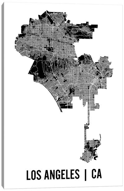 Los Angeles Map Canvas Art Print