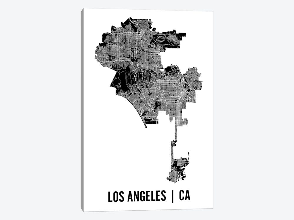 Los Angeles Map by Mr. City Printing 1-piece Canvas Art