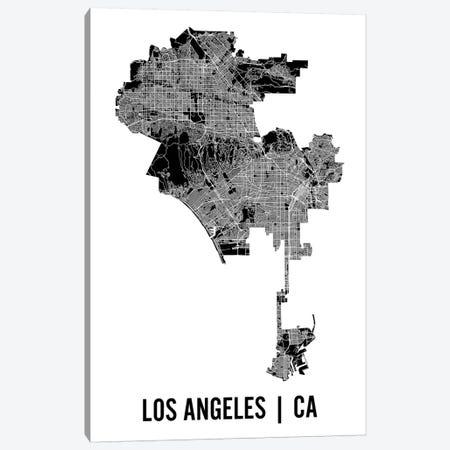 Los Angeles Map Canvas Print #MCP33} by Mr. City Printing Canvas Art Print
