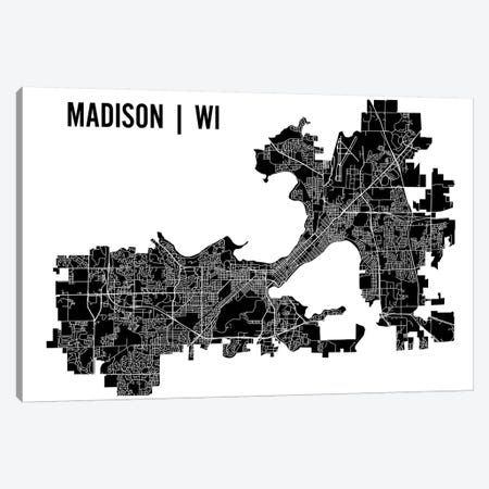 Madison Map Canvas Print #MCP34} by Mr. City Printing Canvas Wall Art