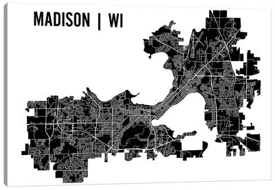 Madison Map Canvas Art Print