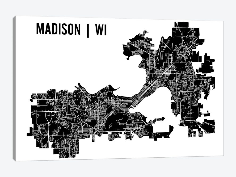 Madison Map by Mr. City Printing 1-piece Canvas Print