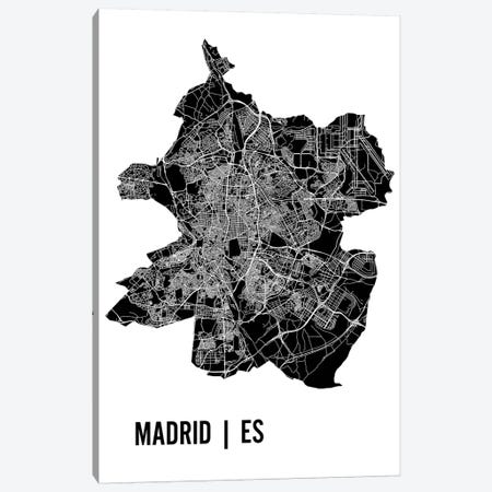 Madrid Map Canvas Print #MCP35} by Mr. City Printing Canvas Wall Art