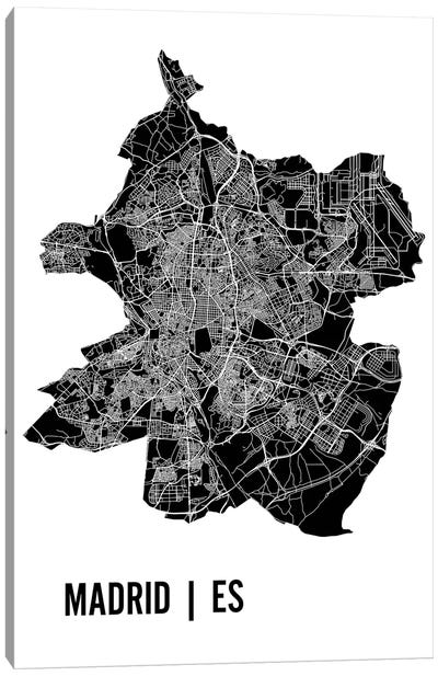 Madrid Map Canvas Art Print