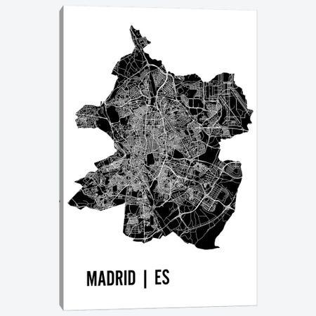 Madrid Map Canvas Print #MCP35} by Mr. City Printing Canvas Wall Art