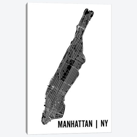 Manhattan Map Canvas Print #MCP36} by Mr. City Printing Canvas Wall Art