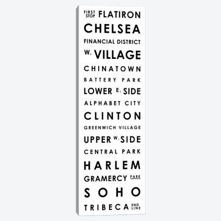 Manhattan Typographical Neighborhoods Canvas Print #MCP37} by Mr. City Printing Canvas Art