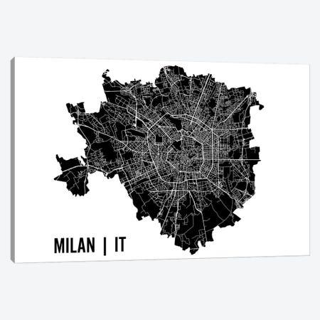 Milan Map Canvas Print #MCP39} by Mr. City Printing Canvas Print