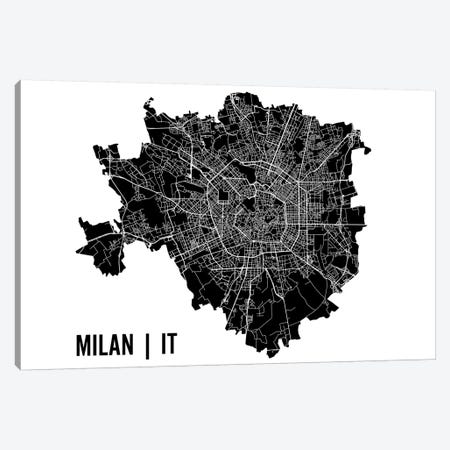 Milan Map Canvas Print #MCP39} by Mr. City Printing Canvas Print