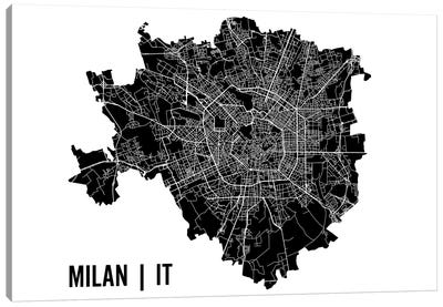 Milan Map Canvas Art Print