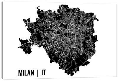 Milan Map Canvas Art Print