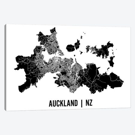 Auckland Map Canvas Print #MCP3} by Mr. City Printing Canvas Art