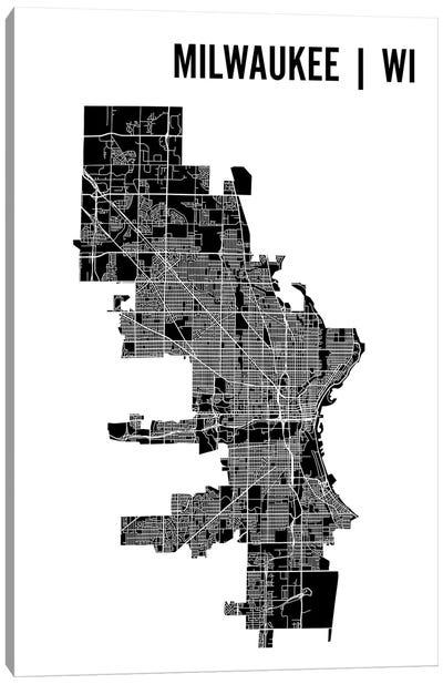 Milwaukee Map Canvas Art Print