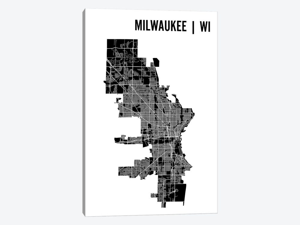Milwaukee Map by Mr. City Printing 1-piece Canvas Wall Art