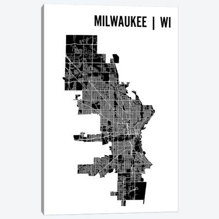 Milwaukee Map Canvas Print #MCP40} by Mr. City Printing Canvas Art