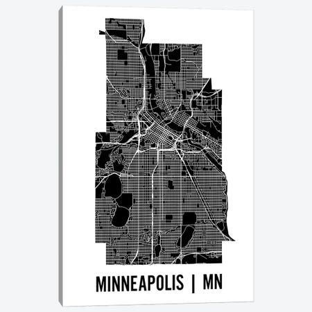 Minneapolis Map Canvas Print #MCP41} by Mr. City Printing Canvas Art