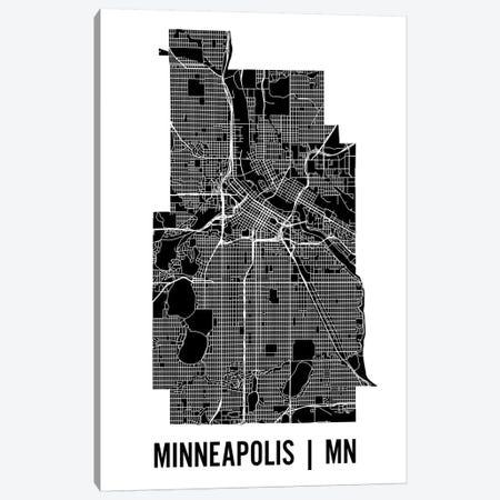 Minneapolis Map Canvas Print #MCP41} by Mr. City Printing Canvas Art