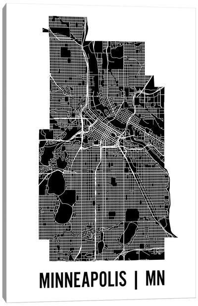 Minneapolis Map Canvas Art Print