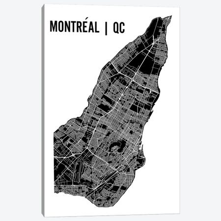 Montreal Map Canvas Print #MCP42} by Mr. City Printing Canvas Artwork