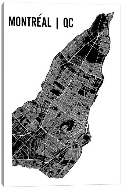 Montreal Map Canvas Art Print