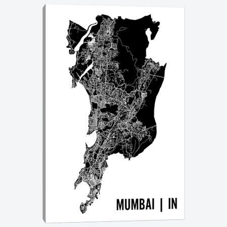 Mumbai Map Canvas Print #MCP43} by Mr. City Printing Canvas Artwork