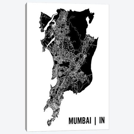Mumbai Map Canvas Print #MCP43} by Mr. City Printing Canvas Artwork