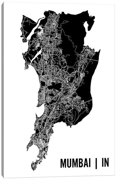 Mumbai Map Canvas Art Print