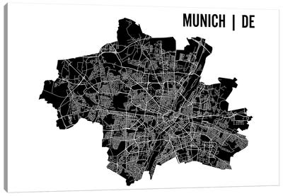 Munich Map Canvas Art Print