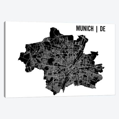 Munich Map Canvas Print #MCP44} by Mr. City Printing Canvas Art Print