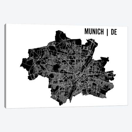 Munich Map Canvas Print #MCP44} by Mr. City Printing Canvas Art Print