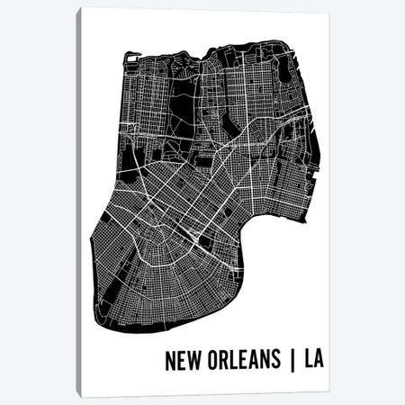 New Orleans Map Canvas Print #MCP45} by Mr. City Printing Canvas Print