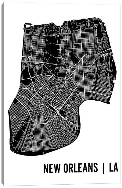 New Orleans Map Canvas Art Print
