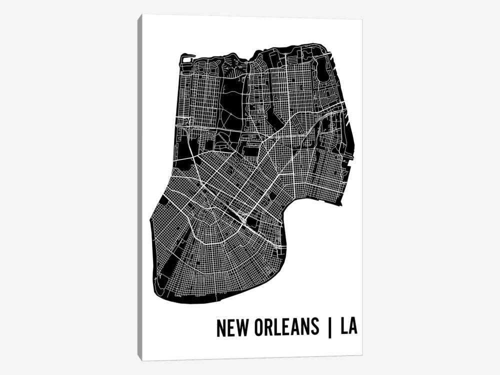 New Orleans Map by Mr. City Printing 1-piece Art Print