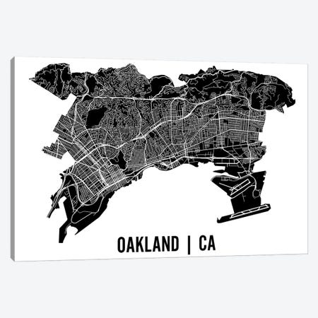 Oakland Map Canvas Print #MCP46} by Mr. City Printing Art Print