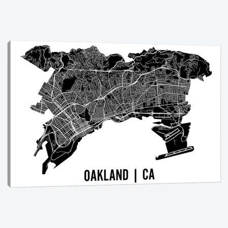 Oakland Map Canvas Print #MCP46} by Mr. City Printing Art Print