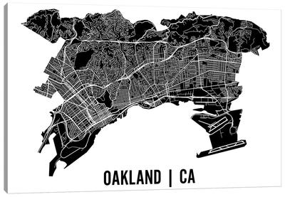 Oakland Map Canvas Art Print