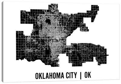 Oklahoma City Map Canvas Art Print