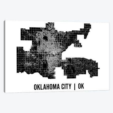 Oklahoma City Map Canvas Print #MCP47} by Mr. City Printing Art Print