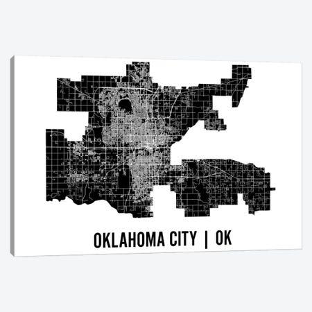 Oklahoma City Map Canvas Print #MCP47} by Mr. City Printing Art Print